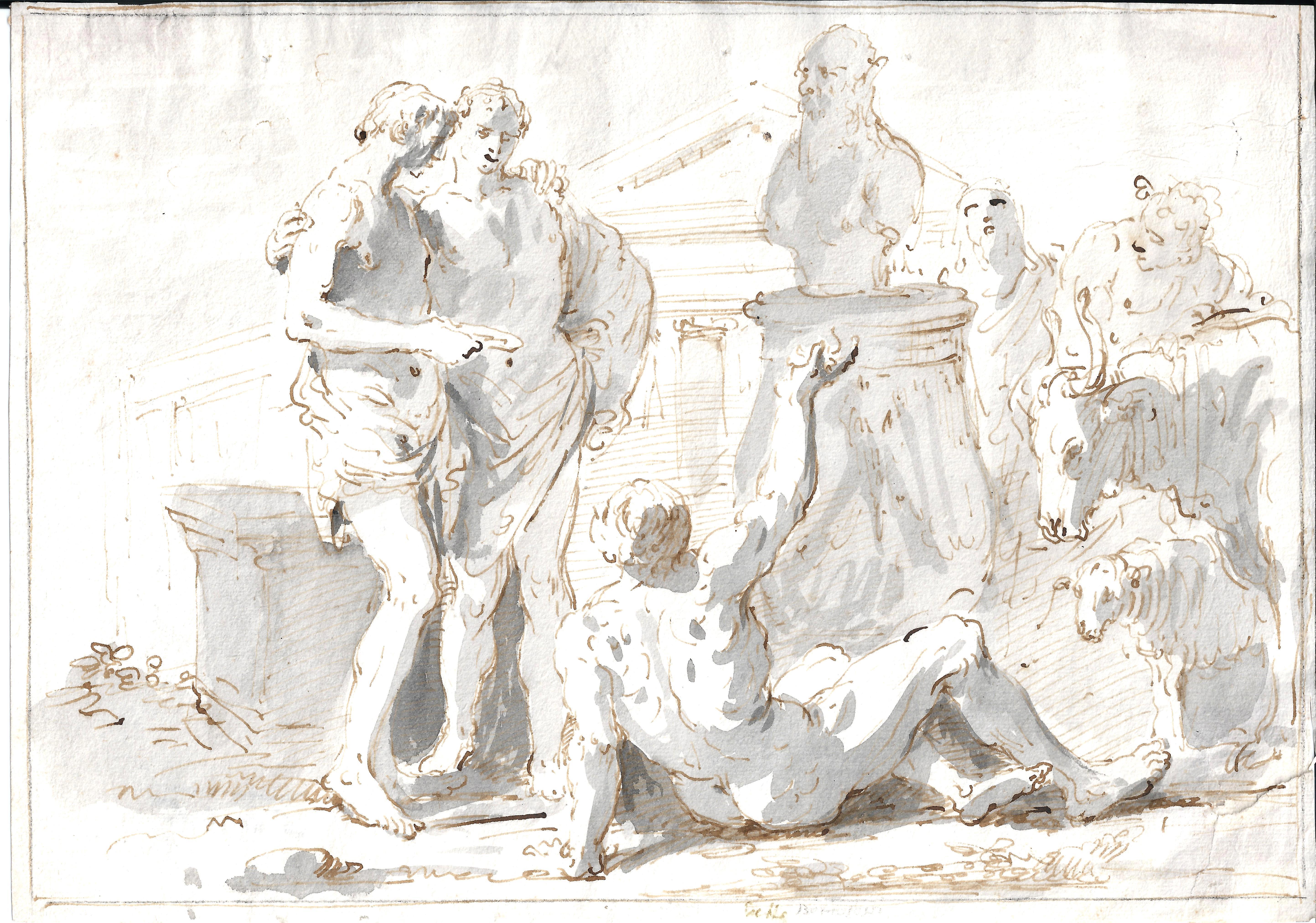 Giuseppe B. Bisson- Escena mitológica