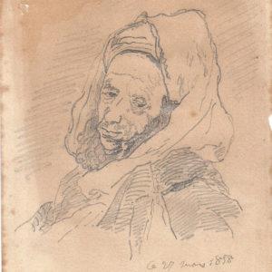 Eugene Delacroix - Moro de medio cuerpo