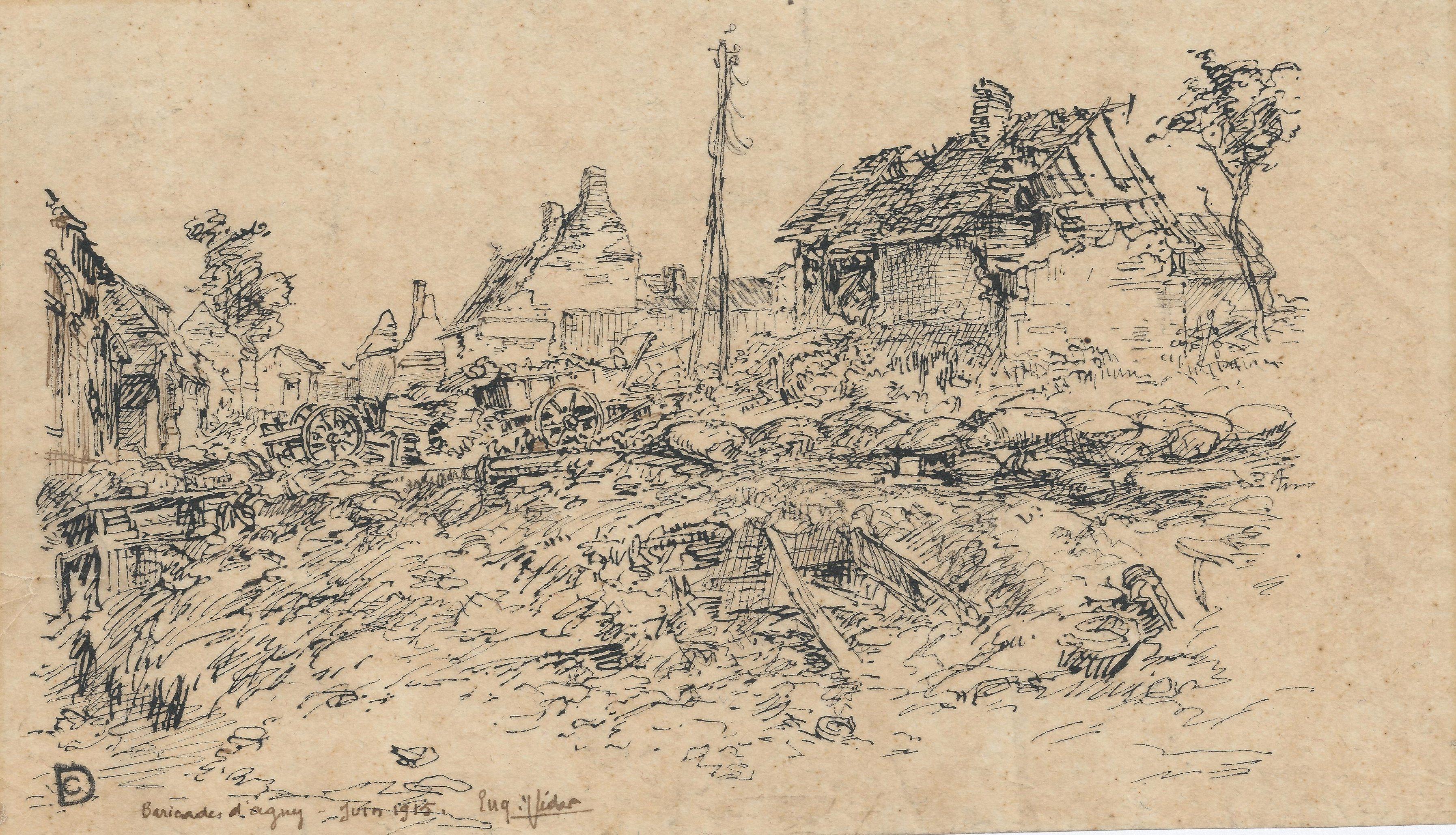 Eugène Veder – Barricadas d'Agny