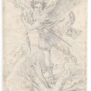 Eugene Delacroix - San Miguel Arcángel (Copia de Rafael)