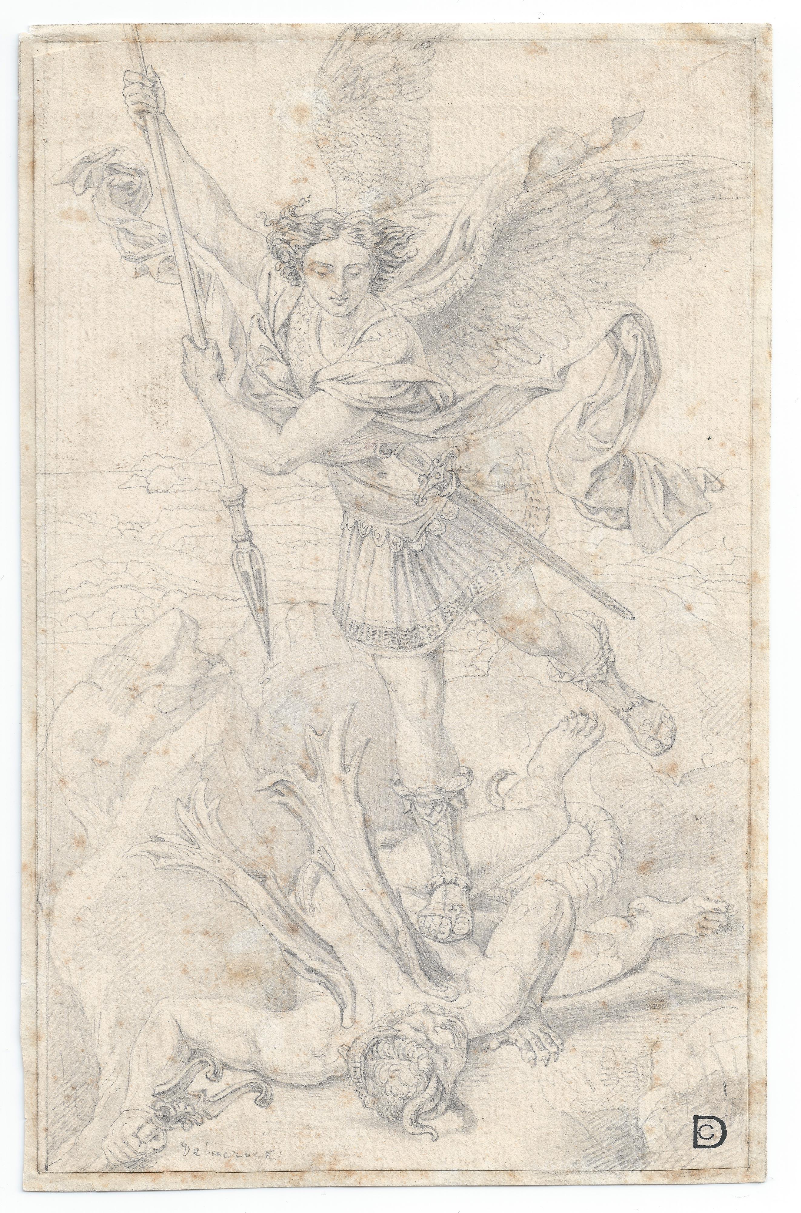 Eugene Delacroix – San Miguel Arcángel (Copia de Rafael)