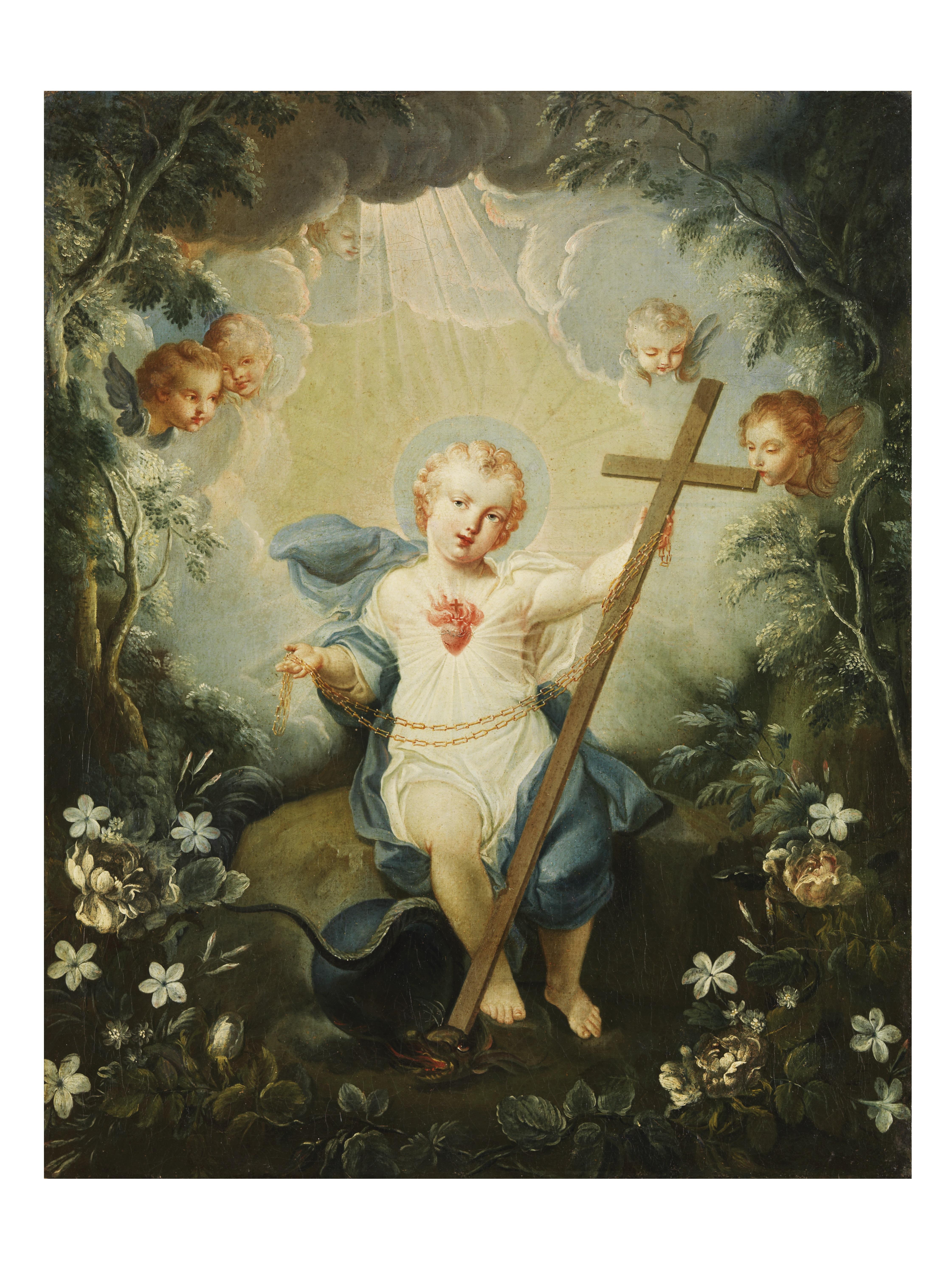 Luis Paret y Alcázar (atribuido) – Alegoría del Sagrado Corazón