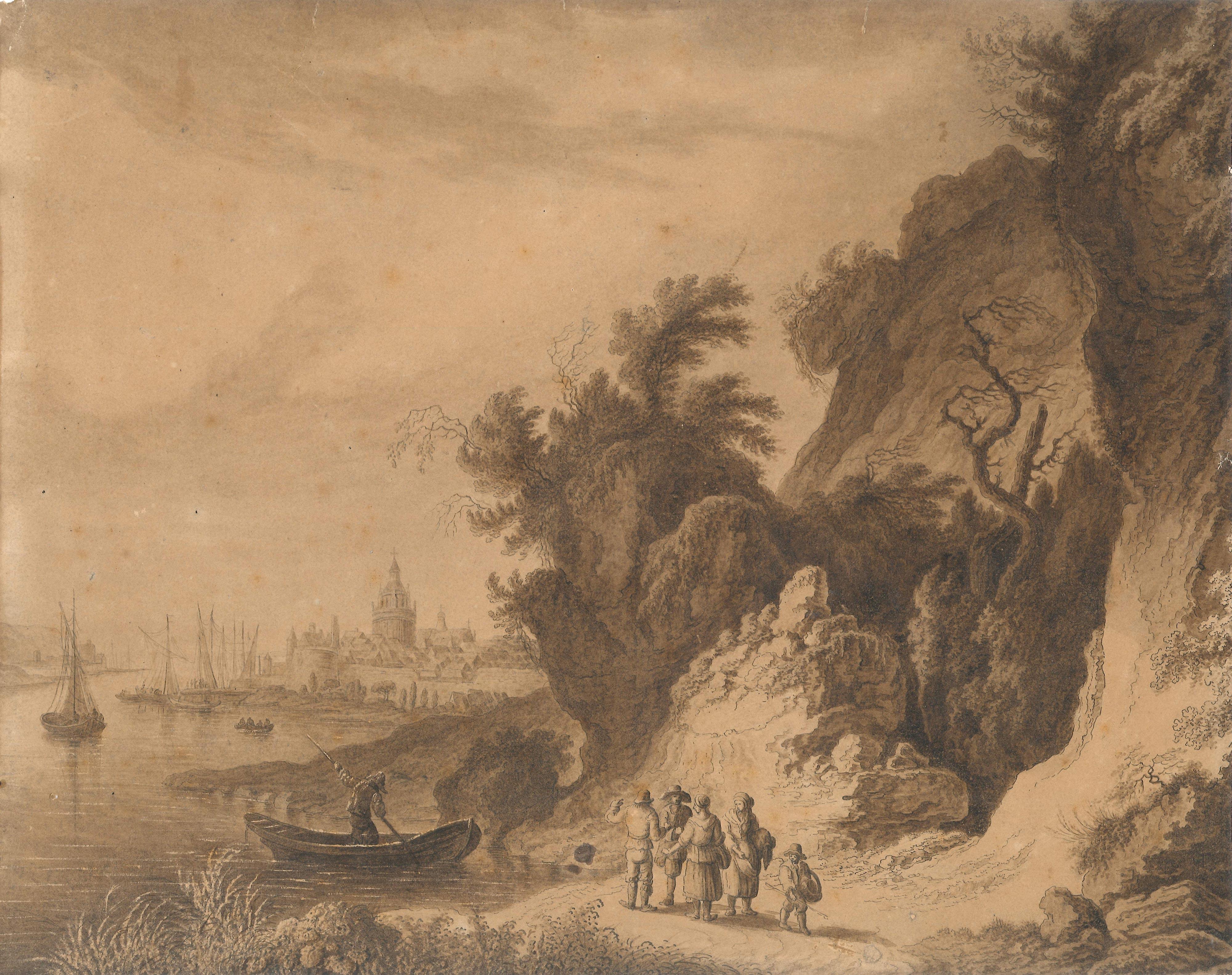 Franz-Edmund Weirotter – Vista de Vernonnet en Normandía