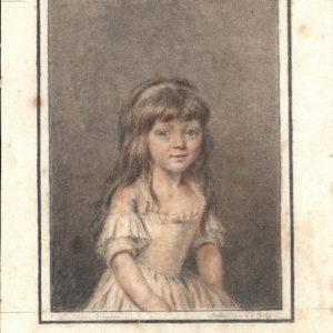 Luis Leopold Boilly - Retrato de Sabine Houdon. Dibujo de la Escuela Francesa del Siglo XVIII.