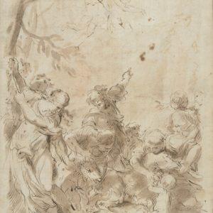 Ciro Ferri - Júpiter alimentado por la cabra Amaltea