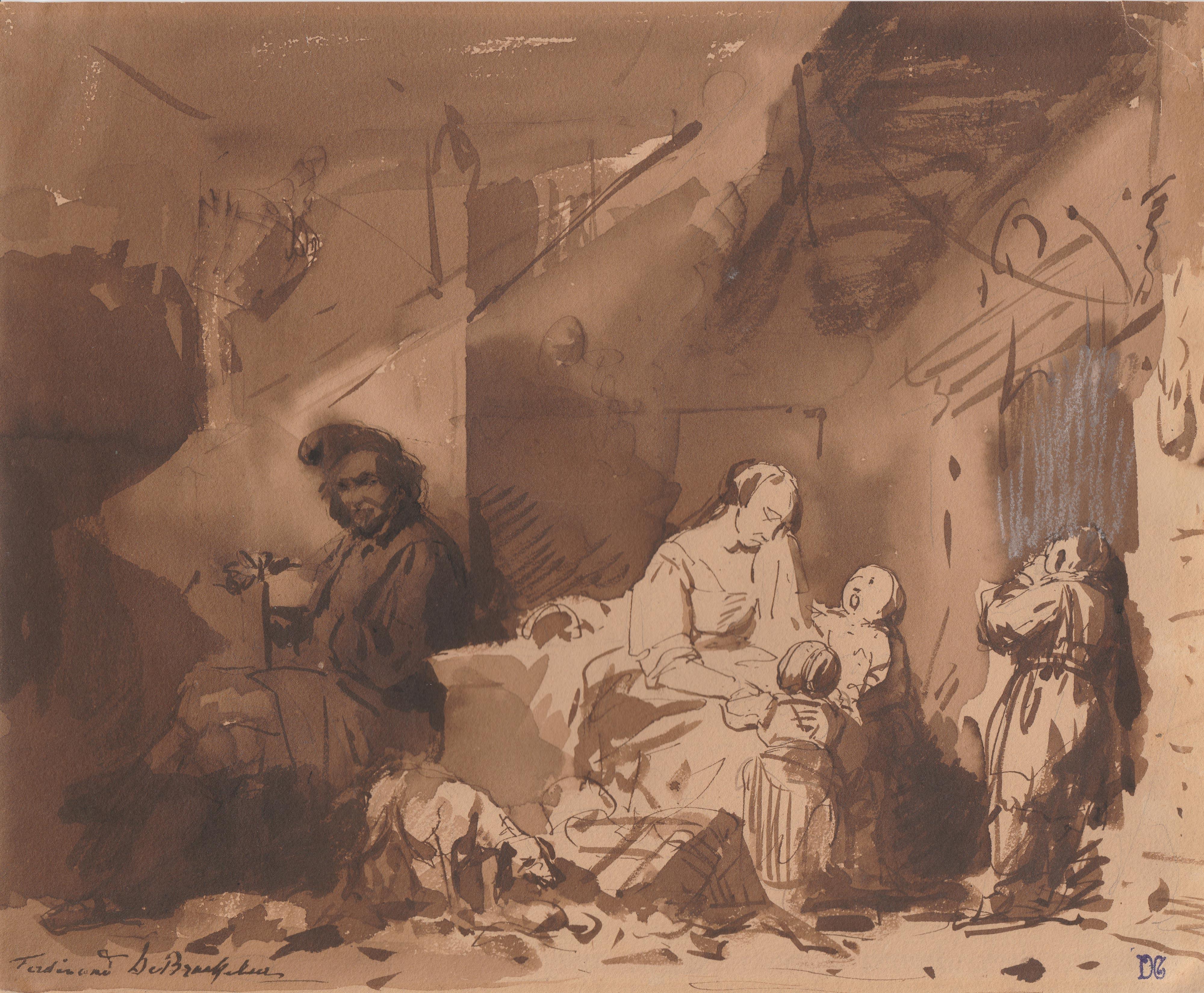 Ferdinand de Braekeleer – Escena interior