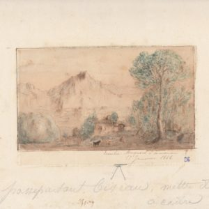 Pintor desconocido - Emilie Morquard a sa maman. Dibujo de la Escuela Francesa del Siglo XIX.