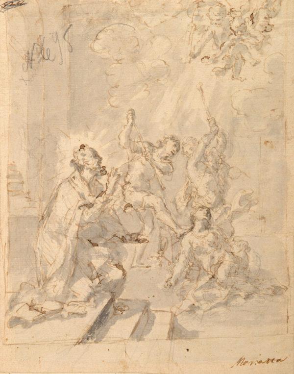 Dibujo Pintura Maratti - Martirio de Santa