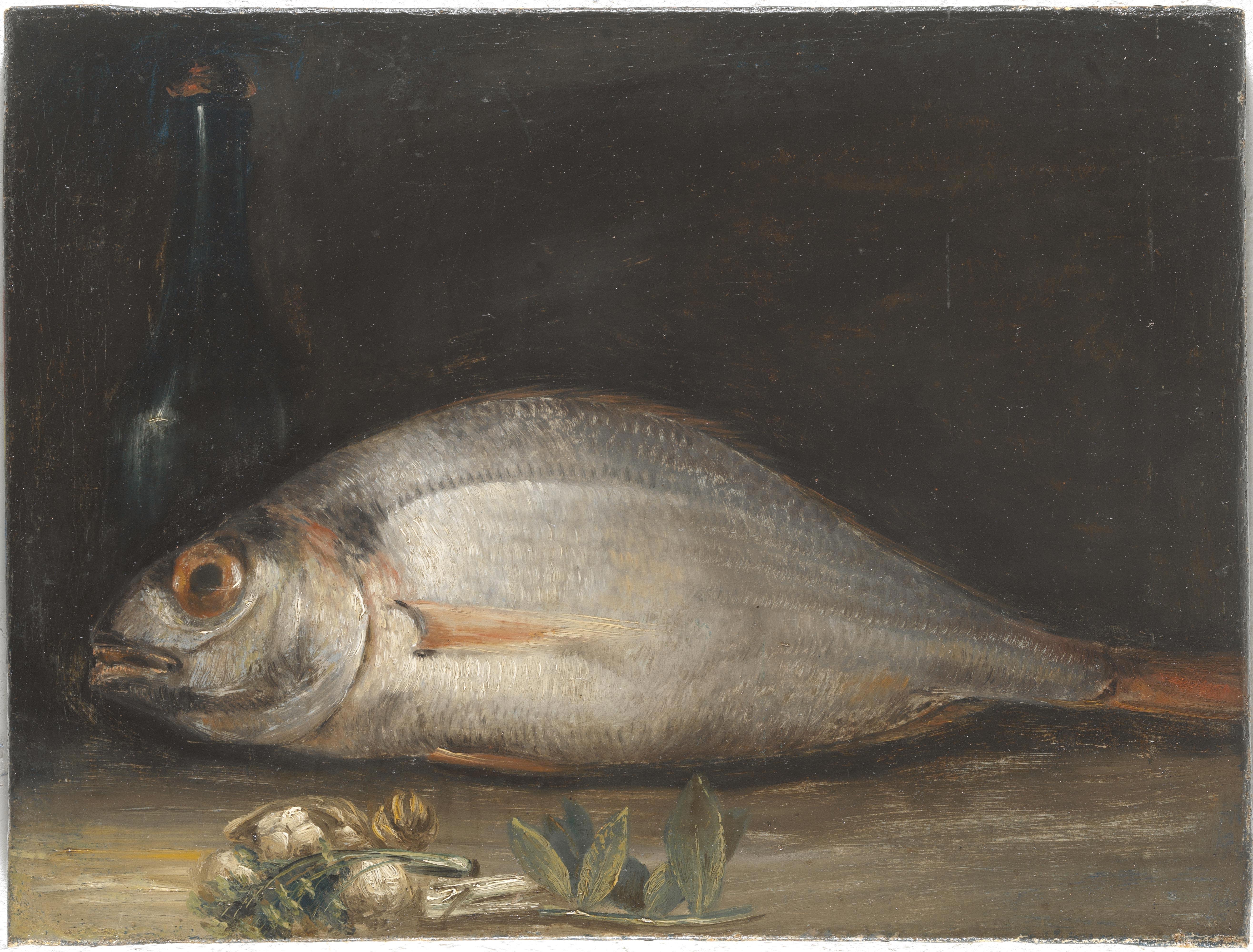 Bartolomé Montalvo – Bodegón con besugo