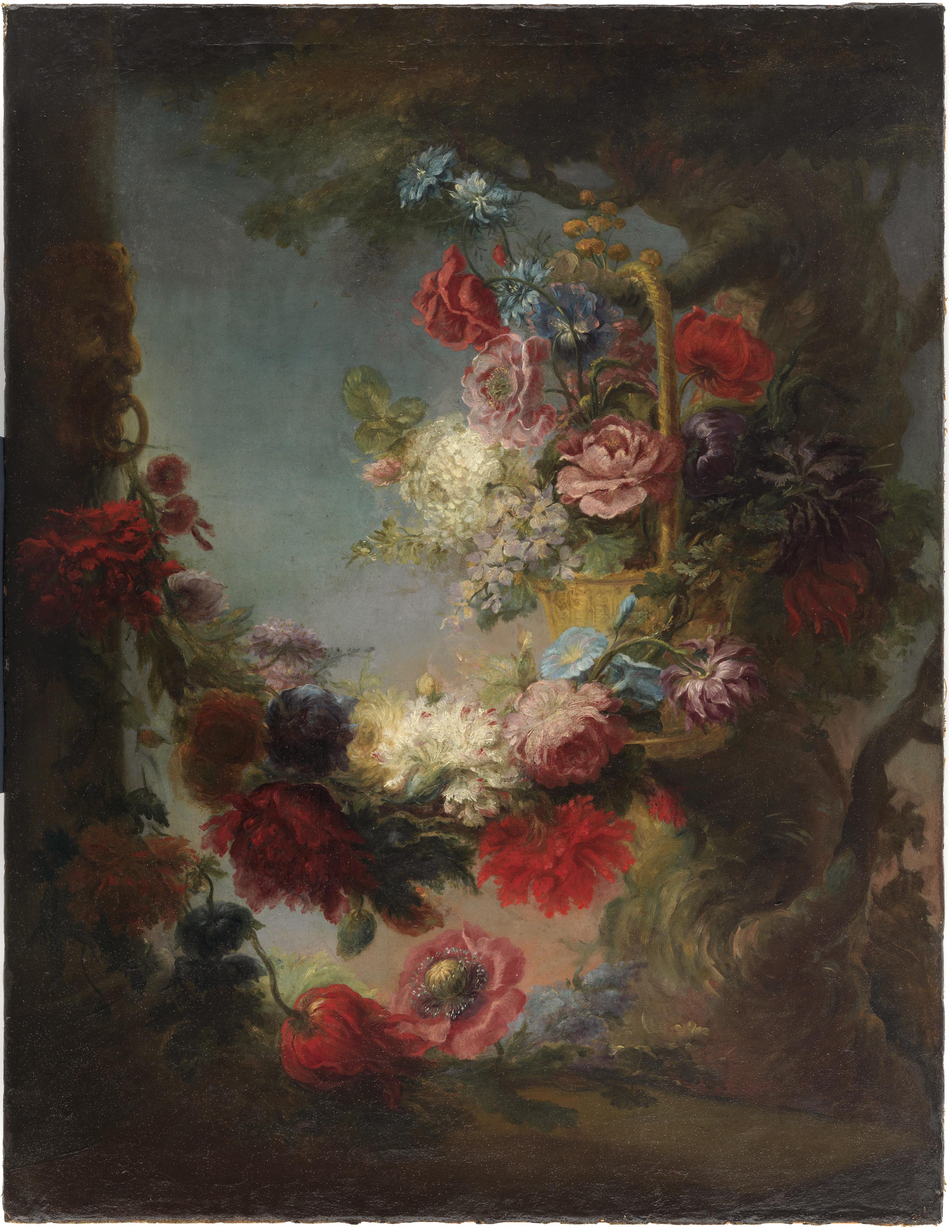 Luis Paret y Alcazar – Flores en un paisaje
