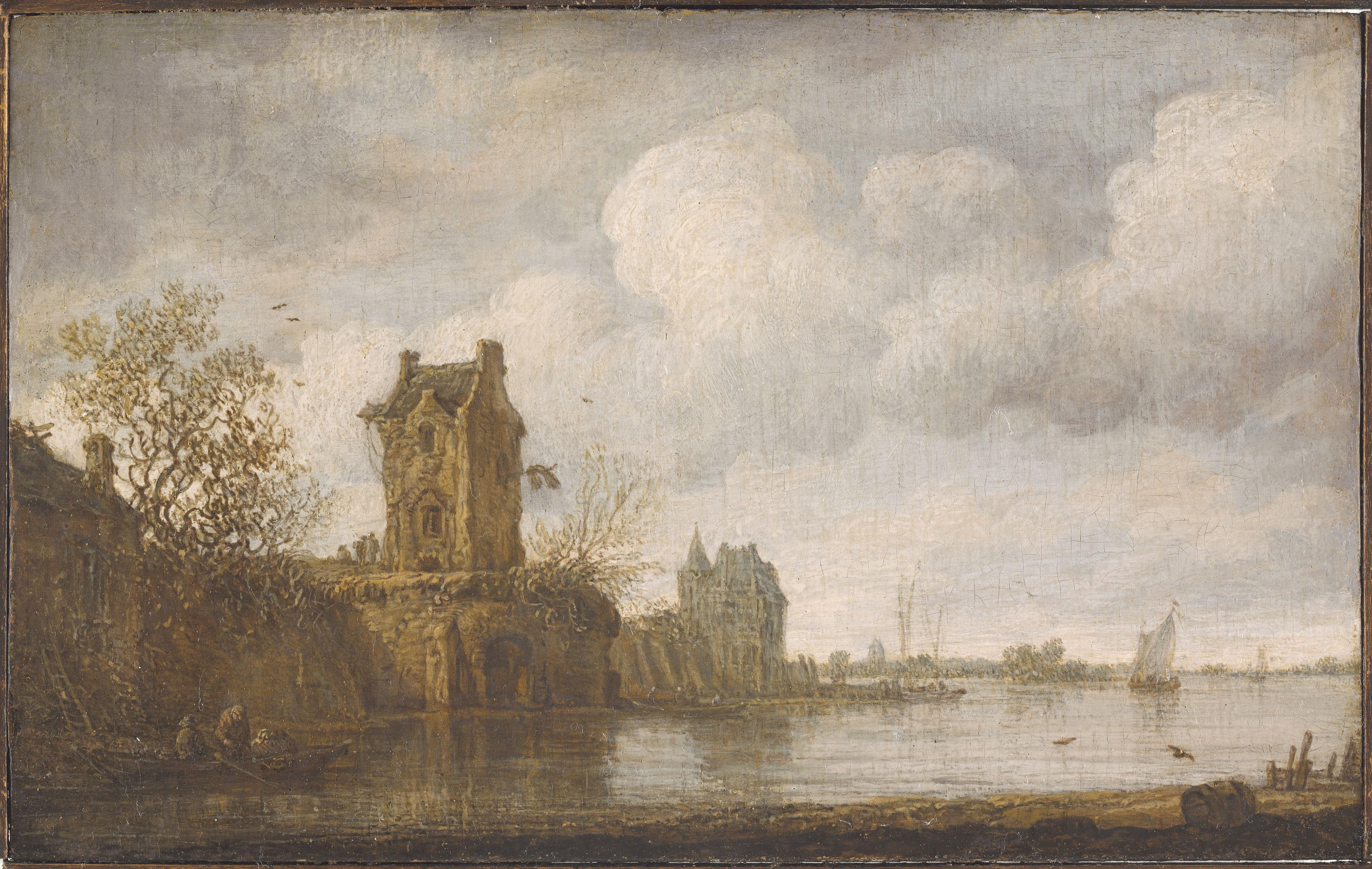 Jan Van Goyen-Paisaje lacustre