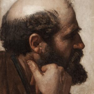 Jean Auguste Dominique Ingres - Cabeza de hombre de perfil