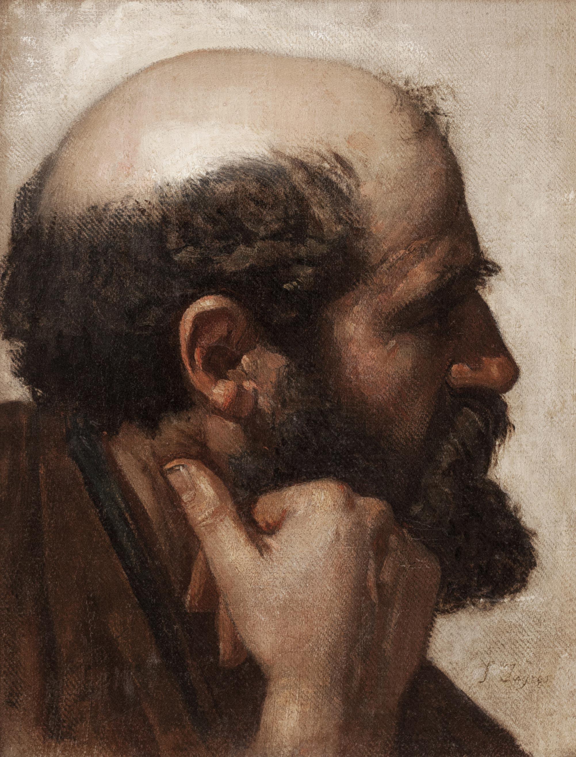 Jean Auguste Dominique Ingres – Cabeza de hombre de perfil