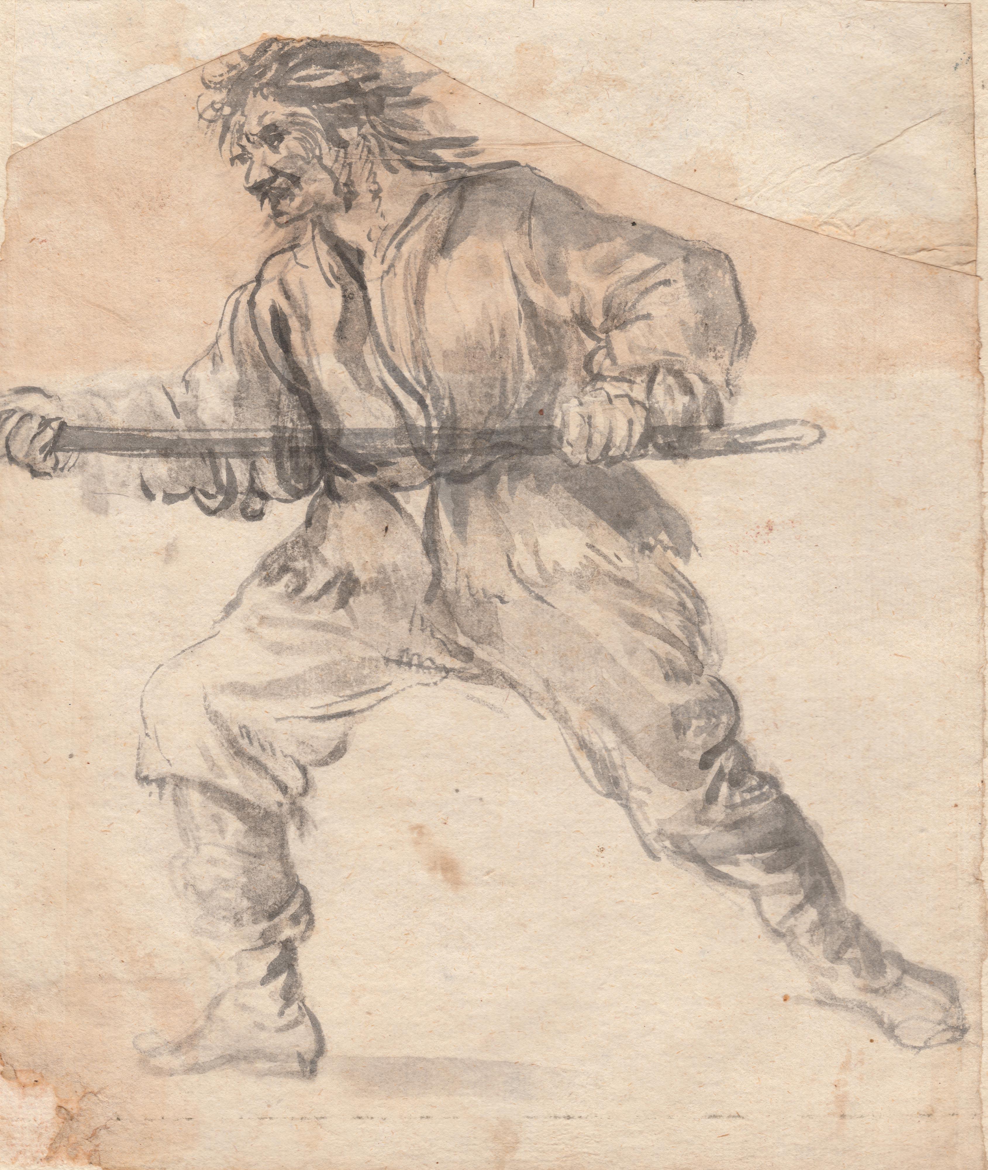 Goya (atribuido) – Hombre con palo