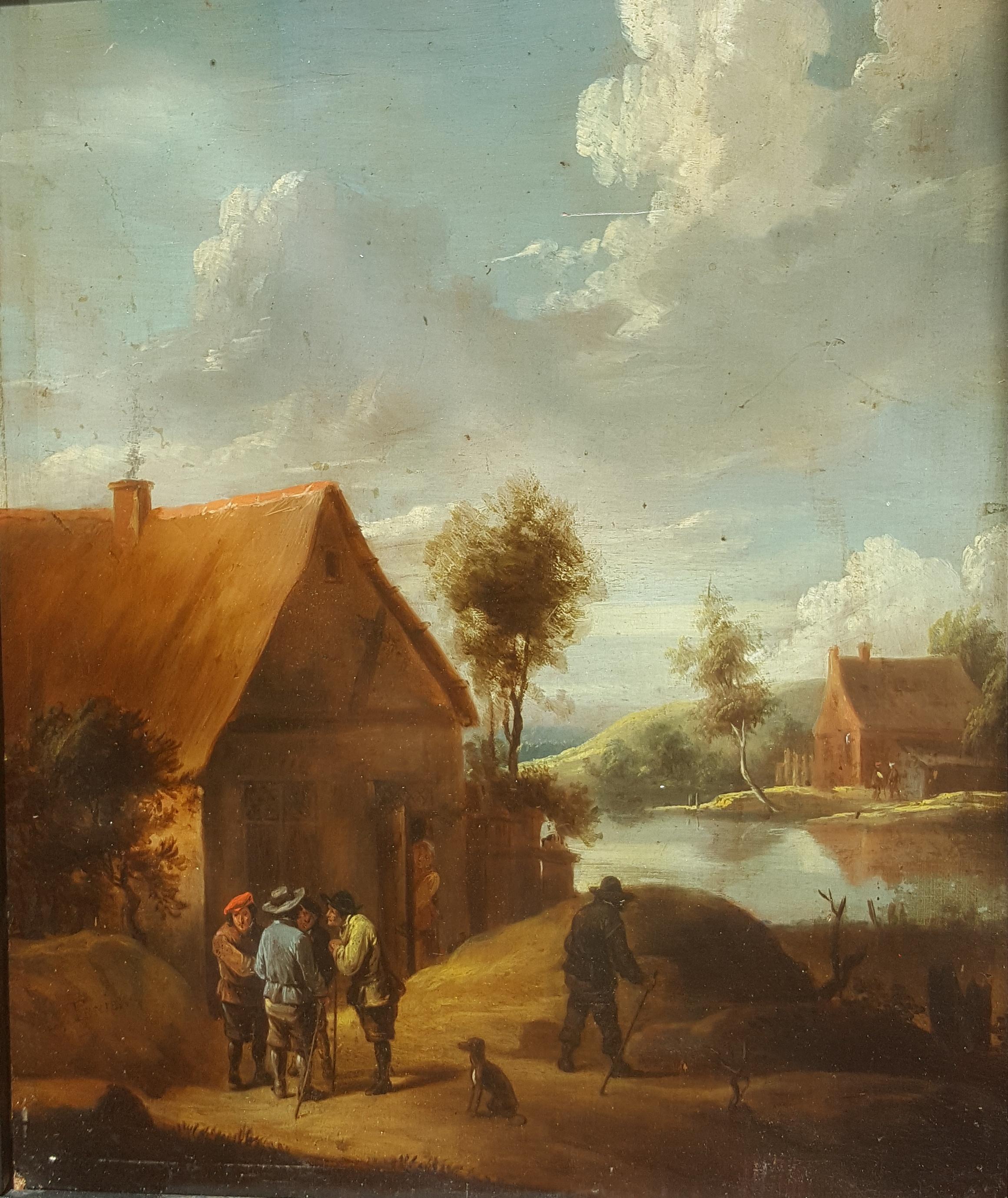 David Teniers II – Paisaje rural con personajes