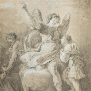 Domenico Fetti - Ángel de la guarda protegiendo a un niño