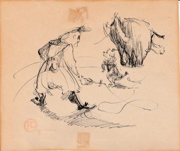 Henri de Toulouse Lautrec - Escena en el Nouveau Cirque. Dibujo de la Escuela Francesa del Siglo XIX.