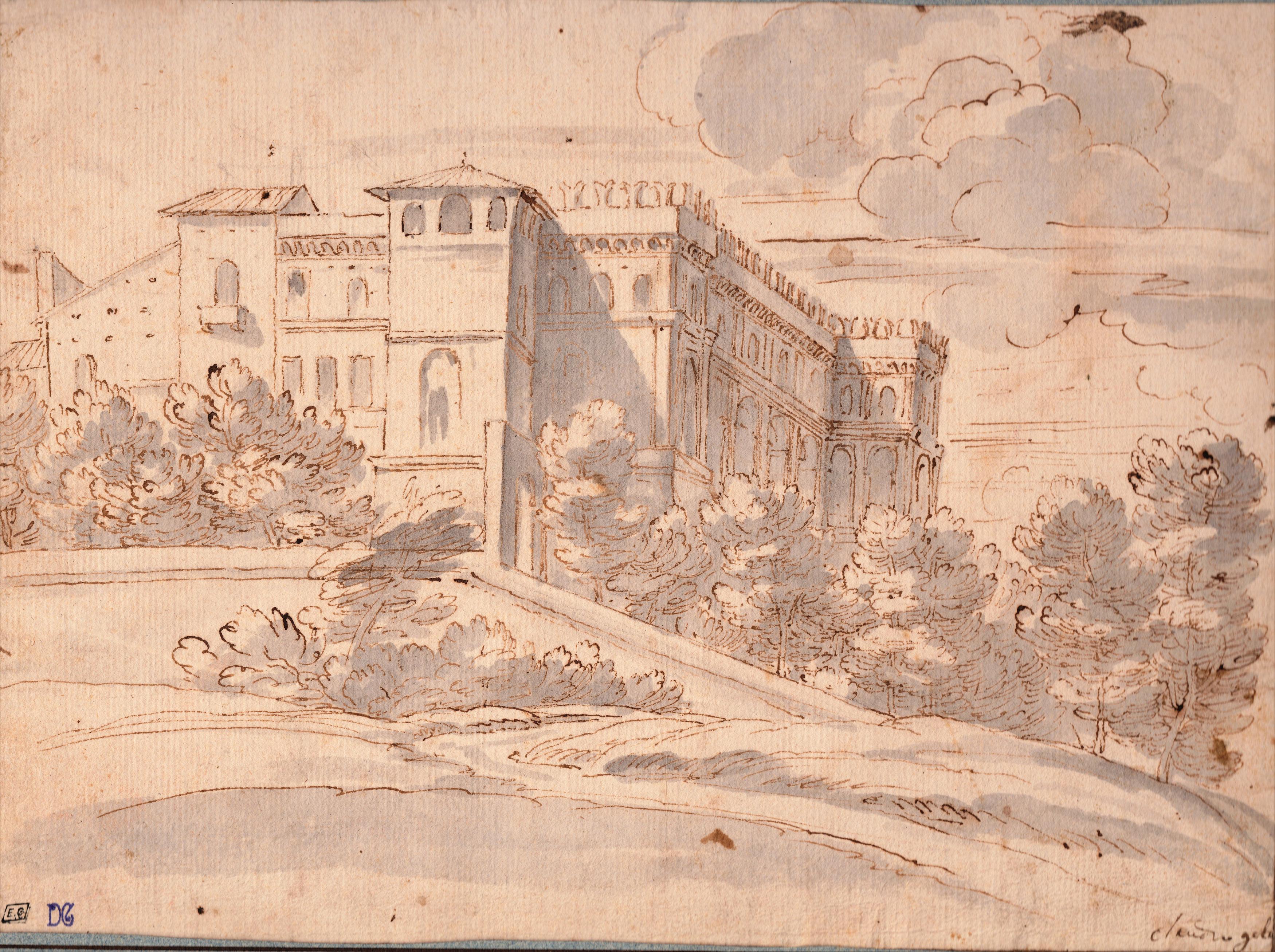 Claudio de Lorena – Fortaleza en un paisaje