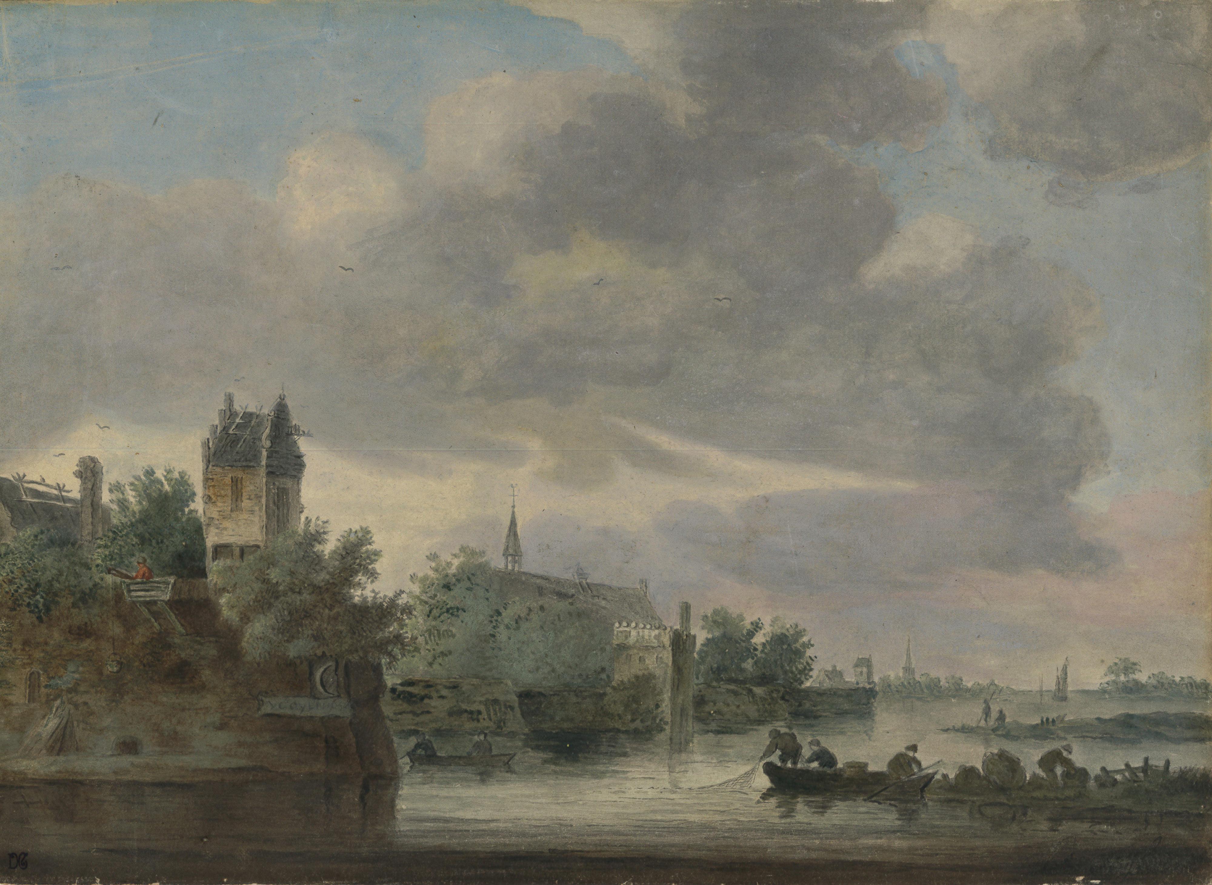 Jan Van Goyen – Pescadores junto a la costa