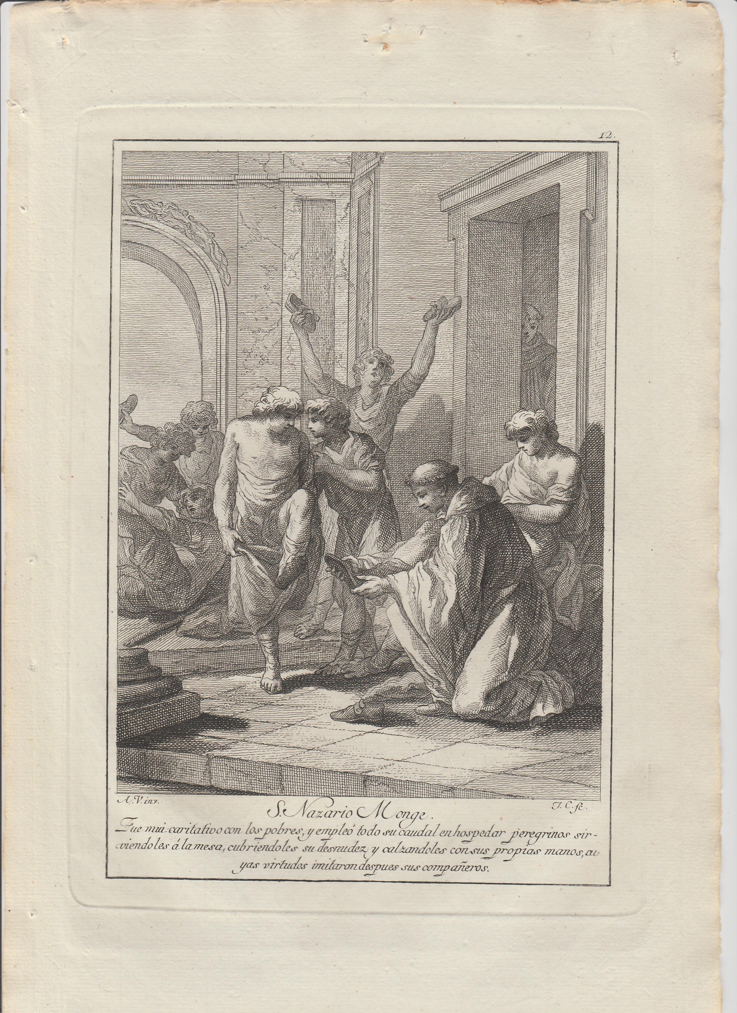 Antonio  Gonzalez  Velázquez / Juan Antonio Salvador  Carmona – Estampas Nº  12, 14, 15, 18, 21 y 24 Flos Sanctorum