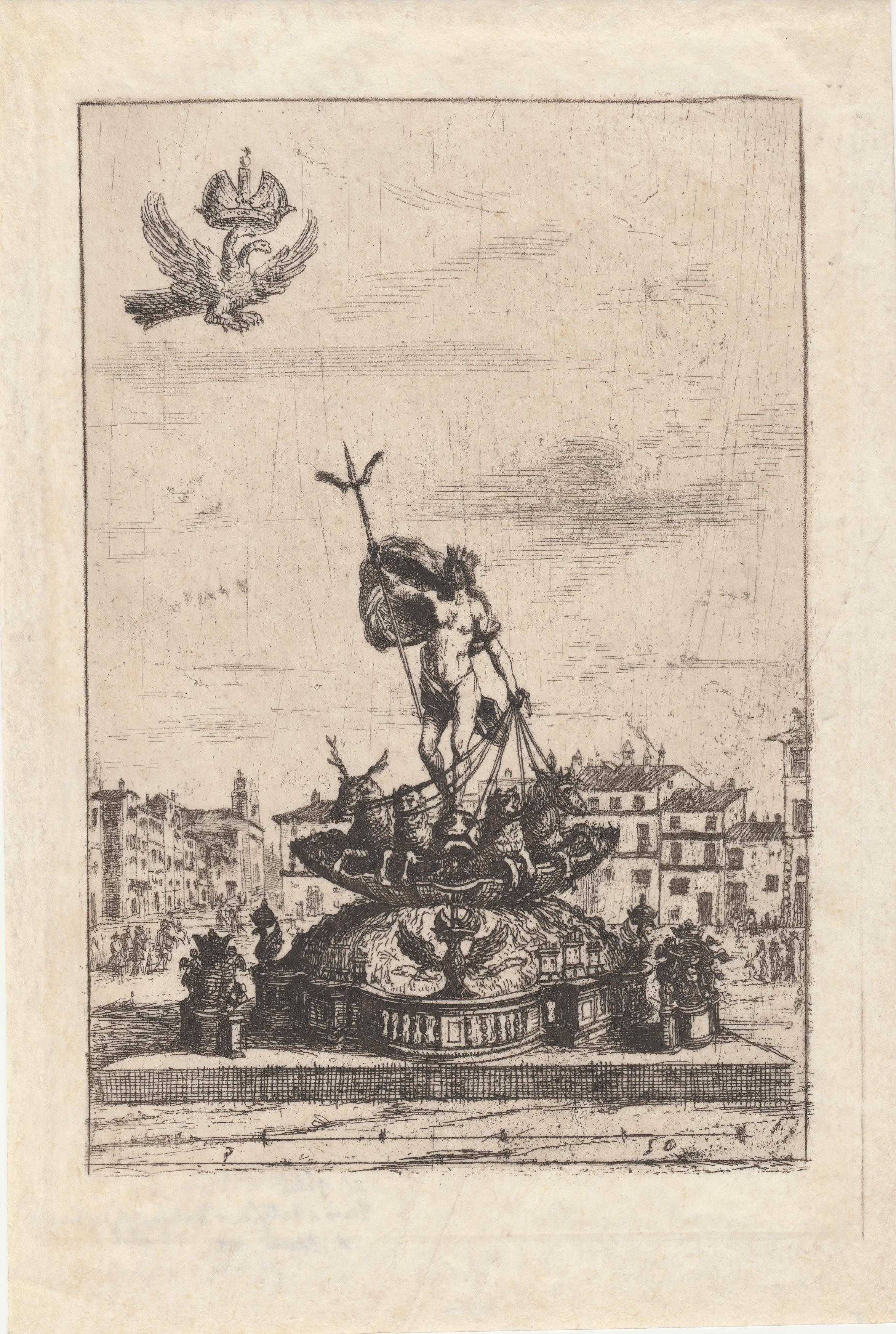Claudio de Lorena – Fuegos de artificio, fuente de Neptuno