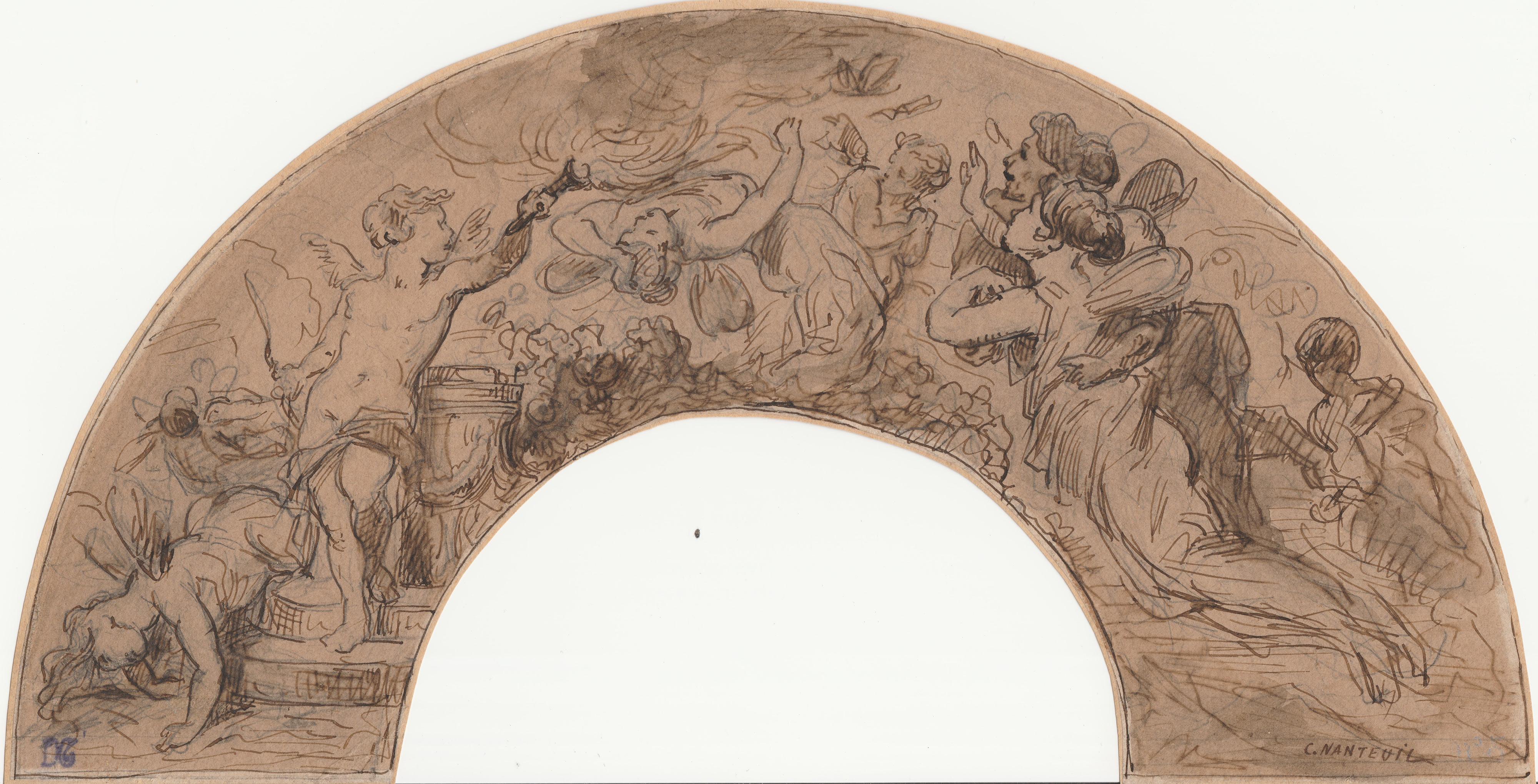 Célestin François NANTEUIL –  Boceto  para fresco